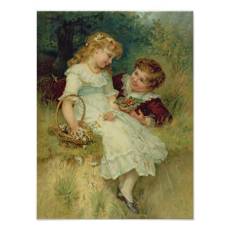 Amores, de las peras Annual, 1905 Póster