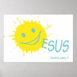 Amores de Sonburst Jesús usted poster