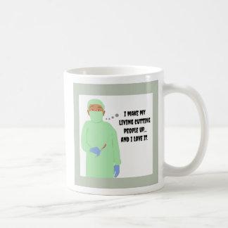 Amores del cirujano para cortar a gente taza