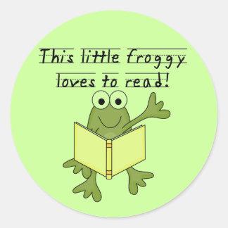 Amores del Froggy para leer las camisetas y los re Etiqueta Redonda