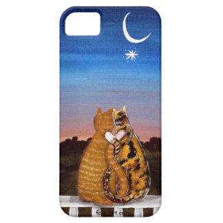 amores del gatito del caso iPhone5 Funda Para iPhone SE/5/5s