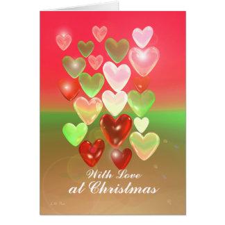 Amores del navidad con amor tarjeta
