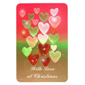 Amores del navidad imán de vinilo
