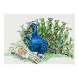 Amores del pavo real para leer la postal