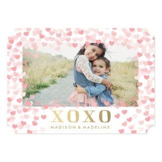 """Amores en tarjeta de la foto del el día de San Invitación 5"""" X 7"""""""