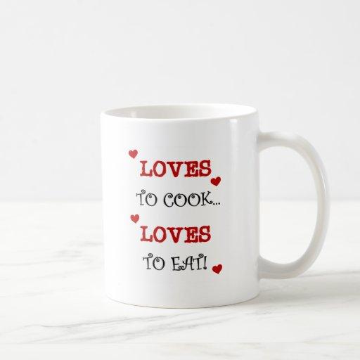 Amores para cocinar amores para comer las camiseta tazas de café