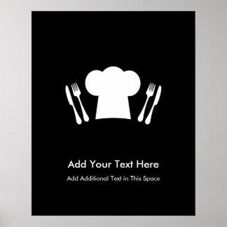 Amores para cocinar la cocina o el restaurante póster