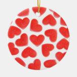 """Amores parte posterior del rojo del ornamento de """""""