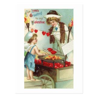 Amores verdaderos que saludan personalizable postal
