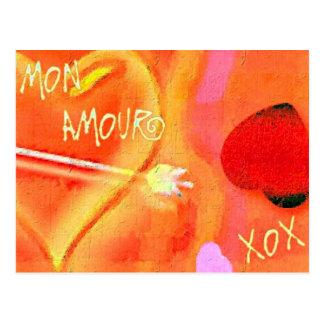 Amorío de lunes postal