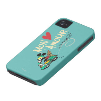 Amorío de Mickey el | lunes del francés iPhone 4 Case-Mate Cobertura
