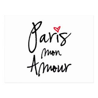 Amorío de París lunes Postales