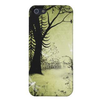 Amorío del par del caso del iPhone del bosque de l iPhone 5 Protectores