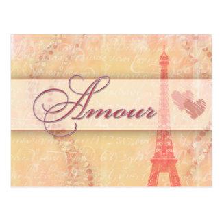 Amorío en París Postal