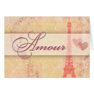 Amorío en París Tarjetón