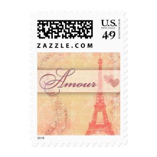 Amorío y la torre Eiffel, París Francia Sello