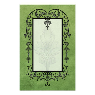 Amoroso: AGED PARCHMENT in Green Stationery