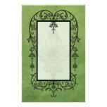 Amoroso: PERGAMINO ENVEJECIDO en verde Papelería De Diseño
