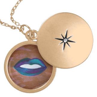 Amorous Glam Lips Kiss XOXO Lipstick Teen Locket Necklace