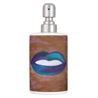 Amorous Lips Kiss XOXO Lipstick Glam Teen Soap Dispenser And Toothbrush Holder
