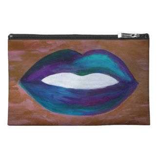 Amorous Lips Kiss XOXO Lipstick Glam Teen Travel Accessory Bag