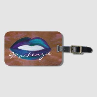 Amorous Lips Kiss XOXO Lipstick Makeup Artist Bag Tag