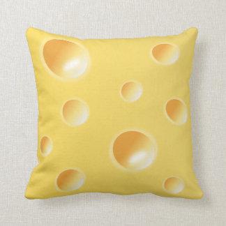 Amortiguador almohada amarillos de la textura del