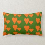 Amortiguador anaranjado de la almohada del tema de