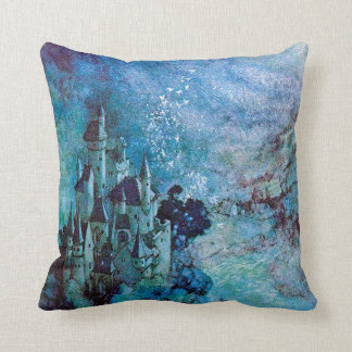 Amortiguador azul de la almohada del castillo