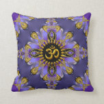 Amortiguador bonito/almohada del oro púrpura de OM Cojín