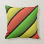 Amortiguador coloreado hermoso de las rayas almohada