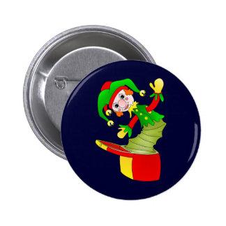 Amortiguador de Jack In The Box del dibujo animado Pin Redondo De 2 Pulgadas