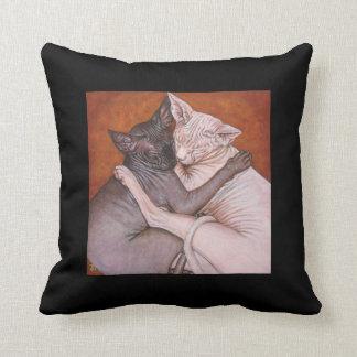 Amortiguador de la almohada del gato de la esfinge