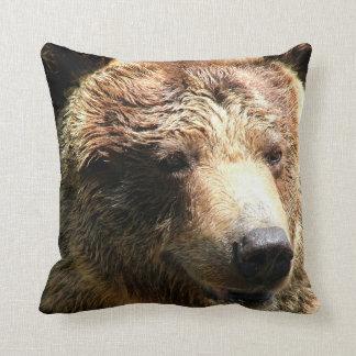 Amortiguador de la almohada del oso de Brown