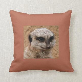Amortiguador de la almohada del retrato de Meerkat