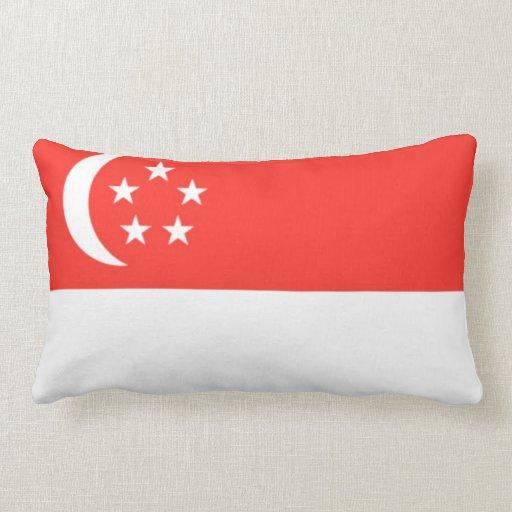 Amortiguador de la bandera de Singapur Cojin