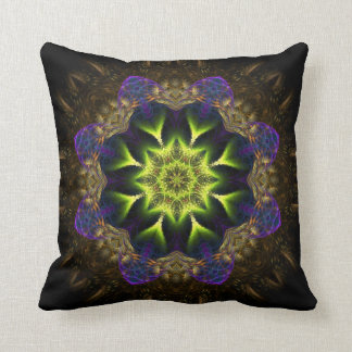 Amortiguador de la flor del verde de la tapicería  almohadas
