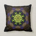 Amortiguador de la flor del verde de la tapicería  cojin