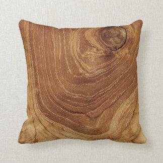 Amortiguador de madera de la naturaleza de madera cojín decorativo