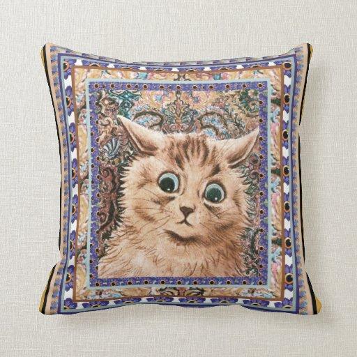 Amortiguador del gato del papel pintado de Louis W Almohadas
