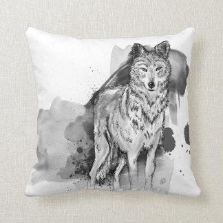 amortiguador del lobo cojín decorativo
