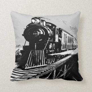 amortiguador del vintage del grey_black del tren cojín decorativo