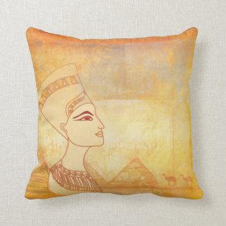 Amortiguador egipcio de la reina Cleopatra Cojin