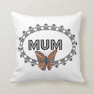 Amortiguador elegante de la momia de la mariposa cojín decorativo