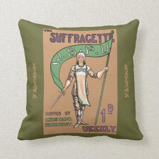 Amortiguador feminista del Suffragette del vintage Cojín Decorativo