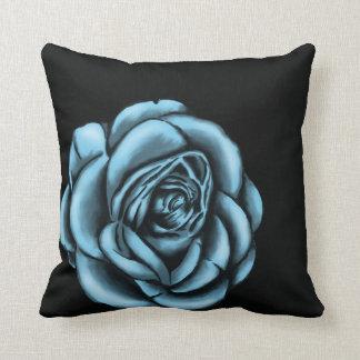 Amortiguador floral color de rosa azul cojin