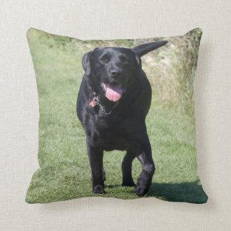 Amortiguador hermoso del perro negro del labrador  cojin
