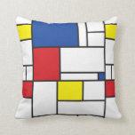 Amortiguador minimalista de la almohada del arte