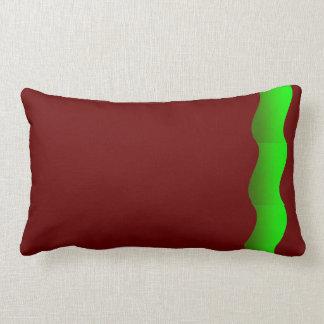 Amortiguador ondulado verde de la almohada del tem