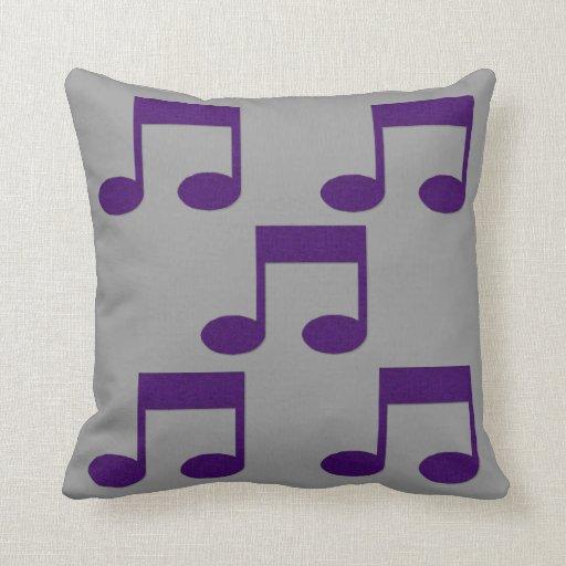 Amortiguador púrpura de la almohada del tema de la